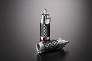 日本 FURUTECH CF-126(R) 鍍銠碳纖維RCA頭, 焊接式 / 定價 NT:4000 一對