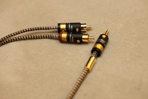 TFS MV-305, 3.5mm to RCA訊號線 / 德國Mundorf 金銀合金線0.5mm多蕊  線長50公分