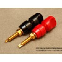 Mundorf 發燒無氧銅鍍金喇叭端子, 紅+黑, 一對/兩隻